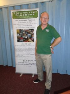 Mike Smith Stowmarket Food Bank July 2019