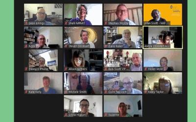 July 2020 we're all getting the hang of Zoom meetings