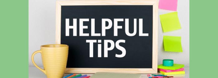 June Helpful tips